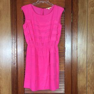 Gianni Bini Women's Dress Hot Pink Large Ruffles